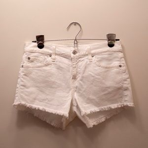 7 FOR ALL MANKIND White Jean Shorts NWT